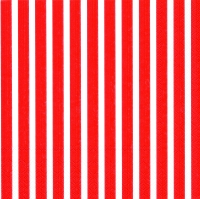 Servietten 33x33 cm - STRIPES AGAIN red