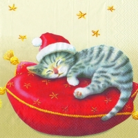 Servietten 33x33 cm - SANTA CAT cream