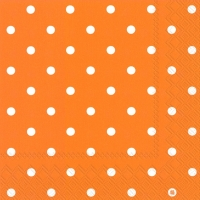 Servietten 33x33 cm - LITTLE DOTS orange