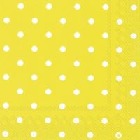 Servietten 33x33 cm - LITTLE DOTS yellow