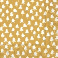 Servietten 33x33 cm - ZWEI Bäume Gold