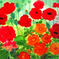 Servietten 33x33 cm - Poppys and friends
