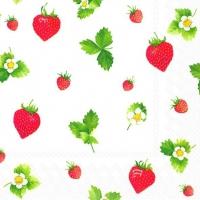 Servietten 33x33 cm - Sweet Strawberries