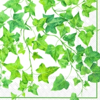 Servietten 33x33 cm - Ivy Ornaments white