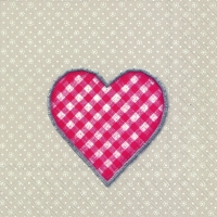 Servietten 33x33 cm - LOVELY DOTTY Leinen rot