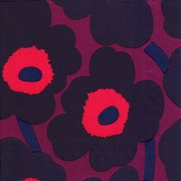 Servietten 33x33 cm - UNIKKO dark red