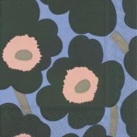 Servietten 33x33 cm - UNIKKO grün blau