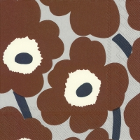 Servietten 33x33 cm - UNIKKO brown grey