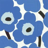 Servietten 33x33 cm - UNIKKO blue