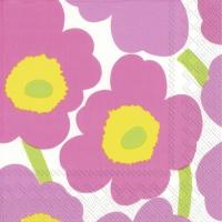 Servietten 33x33 cm - UNIKKO light pink