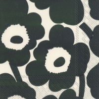 Servietten 33x33 cm - UNIKKO cream green