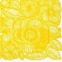 Servietten 33x33 cm - KURJENPOLVI yellow