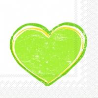 Servietten 33x33 cm - HEARTBEAT light green
