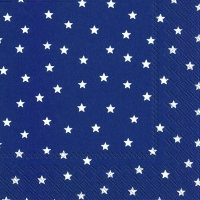 Servietten 33x33 cm - LITTLE STARS dark blue