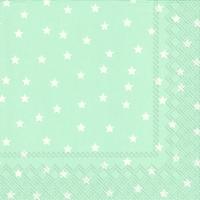 Servietten 33x33 cm - Kleine Sterne hellblau