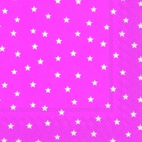 Servietten 33x33 cm - LITTLE STARS pink