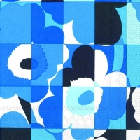 Servietten 33x33 cm - MINI-RUUTU-UNIKKO blue