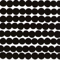 Servietten 33x33 cm - RÄSYMATTO black