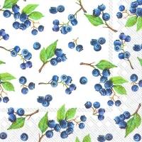 Servietten 33x33 cm - BLUEBERRIES