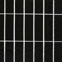 Servietten 33x33 cm - TIILISKIVI schwarz