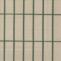 Servietten 33x33 cm - TIILISKIVI linen green