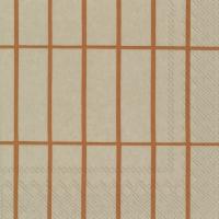 Servietten 33x33 cm - TIILISKIVI linen copper