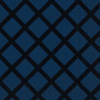 Servietten 33x33 cm - QUILT dark blue