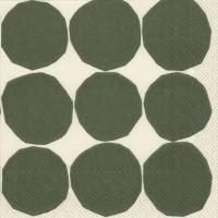 Servietten 33x33 cm - KIVET weiß grün
