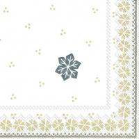Servietten 33x33 cm - GUNDA white linen
