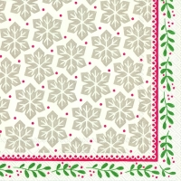 Servietten 33x33 cm - GRETA red green