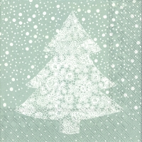 Lunch Servietten CHRISTMAS LACE silver