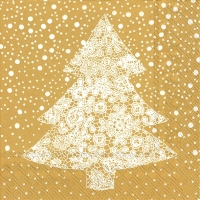 Servietten 33x33 cm - CHRISTMAS LACE gold