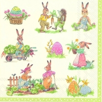 Servietten 33x33 cm - STORIES OF BUNNIES cream