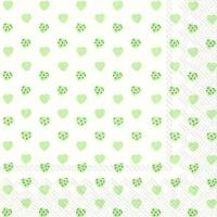 Servietten 33x33 cm - MY LITTLE SWEETHEART green