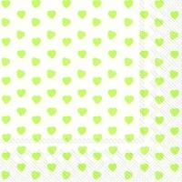 Servietten 33x33 cm - MY LITTLE SWEETHEART Limette