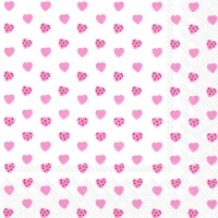 Servietten 33x33 cm - MY LITTLE SWEETHEART rose