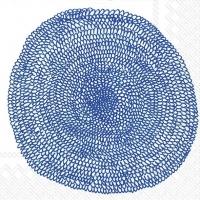 Servietten 33x33 cm - PIPPURIKERÄ weiß blau