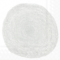Servietten 33x33 cm - PIPPURIKERÄ Weißsilber
