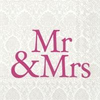 Lunch Servietten MR & MRS pink