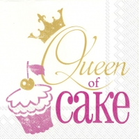 Servietten 33x33 cm - QUEEN OF CAKE pink