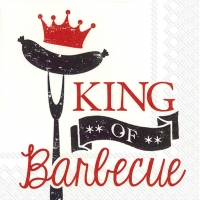 Lunch Servietten KING OF BARBECUE red