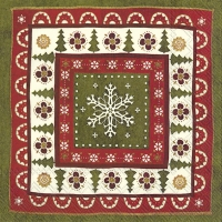 Servietten 33x33 cm - CHRISTMAS PATTERN cream