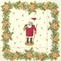 Servietten 33x33 cm - CHRISTMAS HANDICRAFT Creme