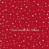 Servietten 33x33 cm - LEISE RIESELT DER SCHNEE red