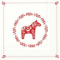 Servietten 33x33 cm - SWEET LITTLE HORSE white red