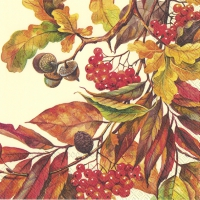 Servietten 33x33 cm - FALL COLORS creme