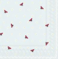 Servietten 33x33 cm - LITTLE LADYBIRDS hellblau