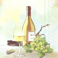 Servietten 33x33 cm - A GOOD WINE