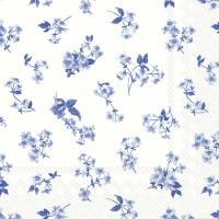 Servietten 33x33 cm - BELLINA weiß blau