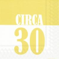 Servietten 33x33 cm - CIRCA 30 gelb